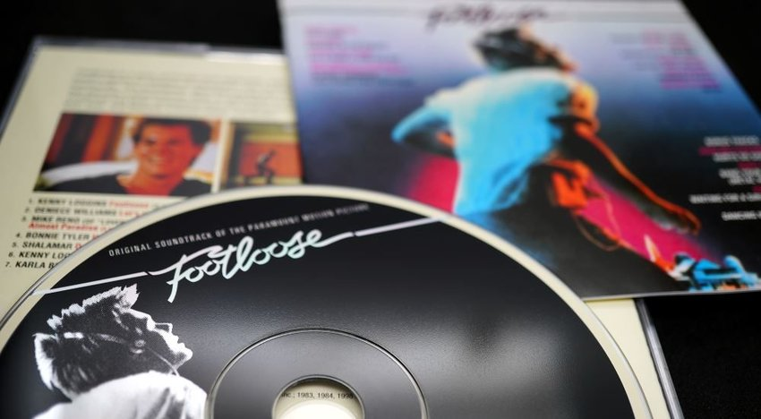 Photo of the Footloose soundtrack disc