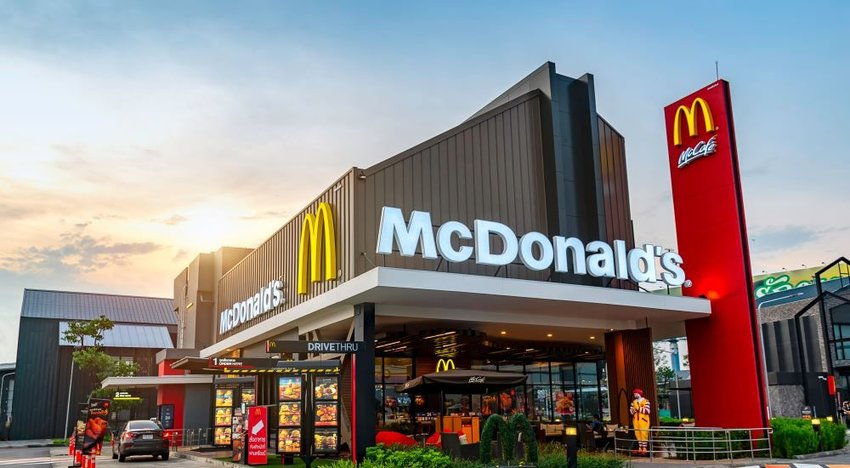 Photo of a modern McDonald's restaurant