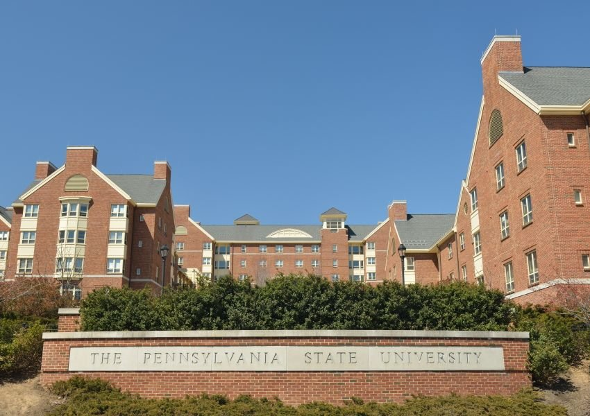 Brick buildings on the campus of Pennsylvania State University