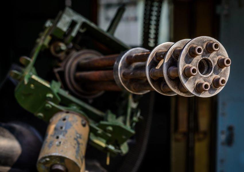 An old machine gun
