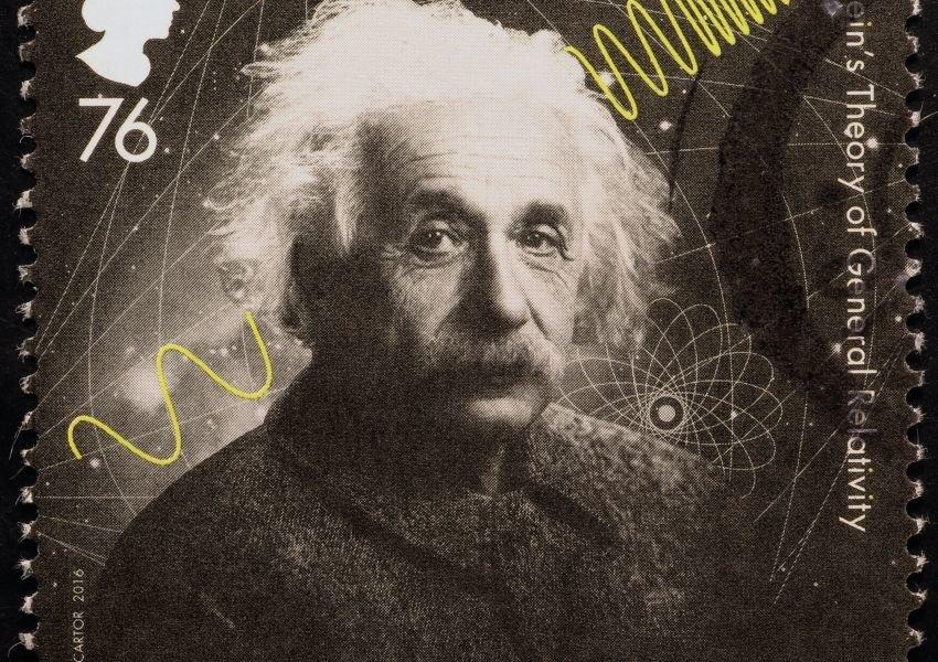 Stamp featuring Albert Einstein