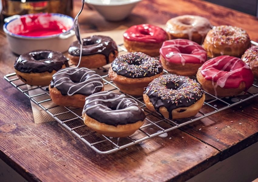 Photo of an assortment of doughnuts