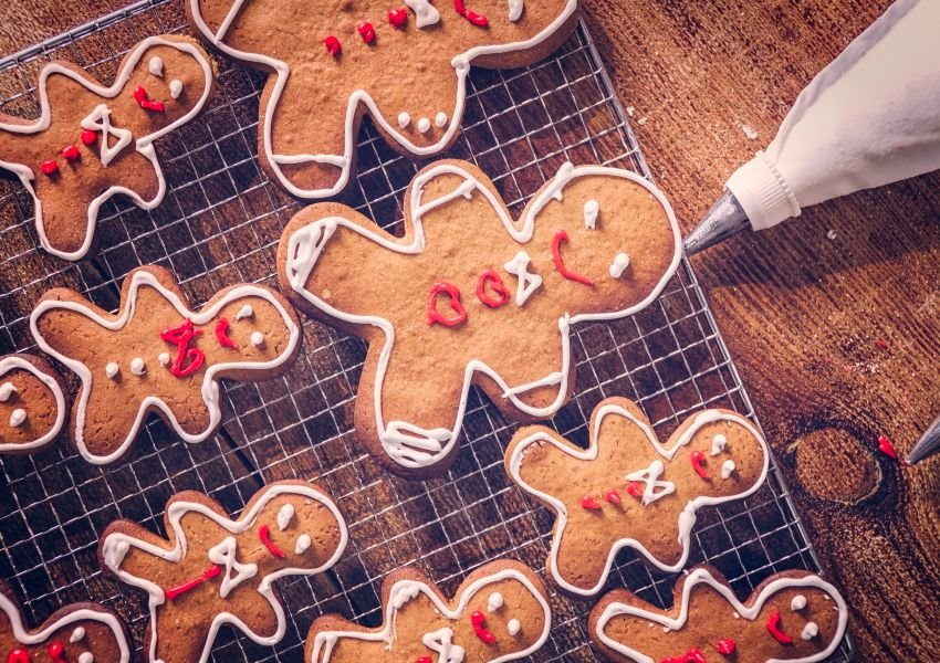 Photo of decorated gingerbread man cookies