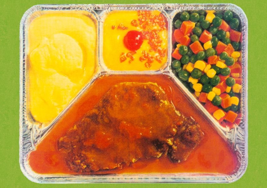Vintage photo of a TV dinner