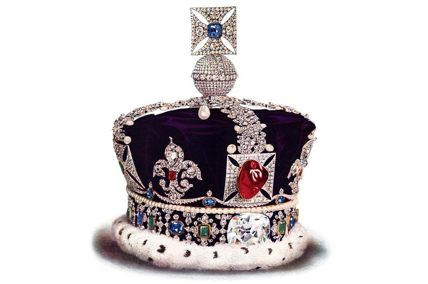 Image of the Imperial State Crown on white