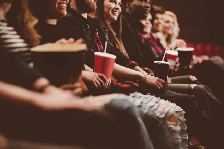 Group of people in a movie theatre
