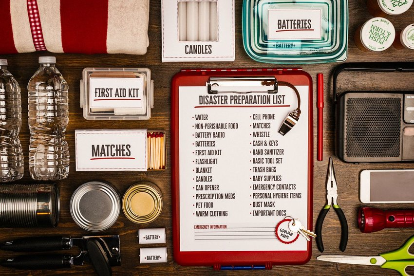 Disaster preparation list and supplies