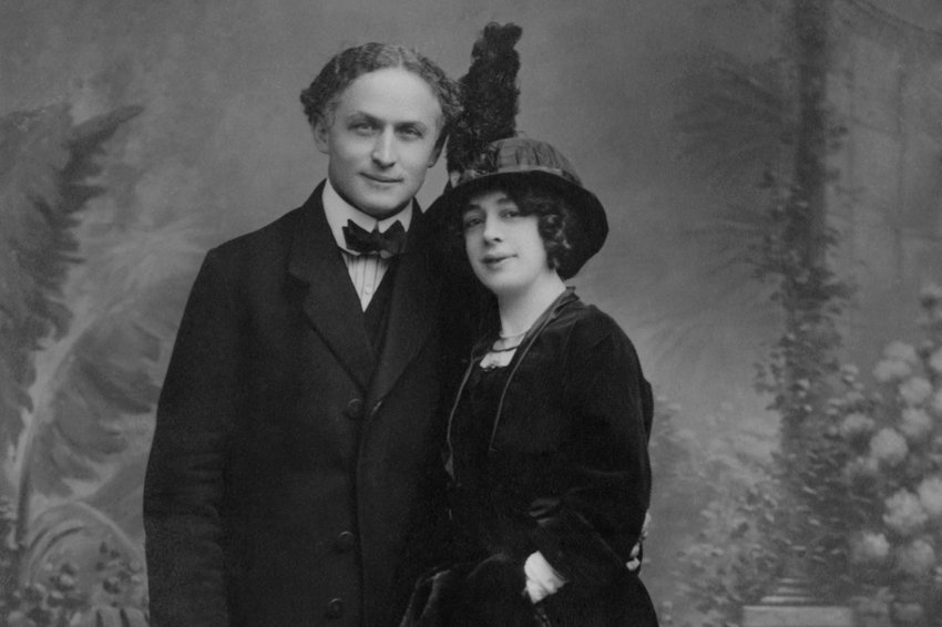 Harry and Beatrice Houdini in Nice, France, 1913