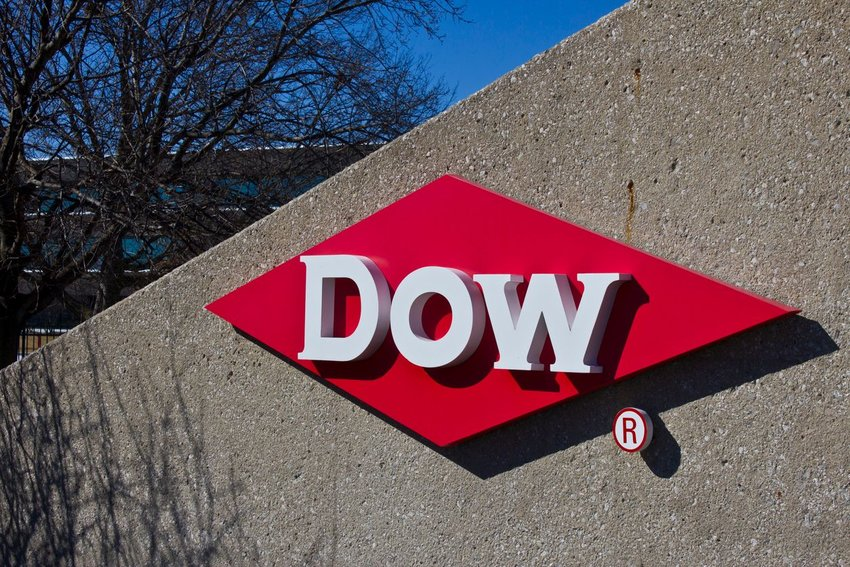 Photo of a Dow Chemical sign