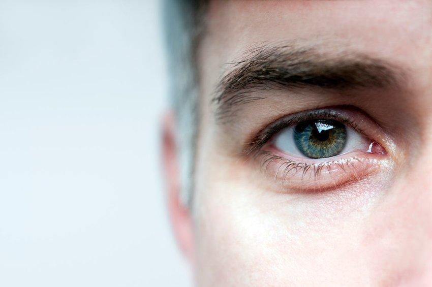 Close up photo of a human eye