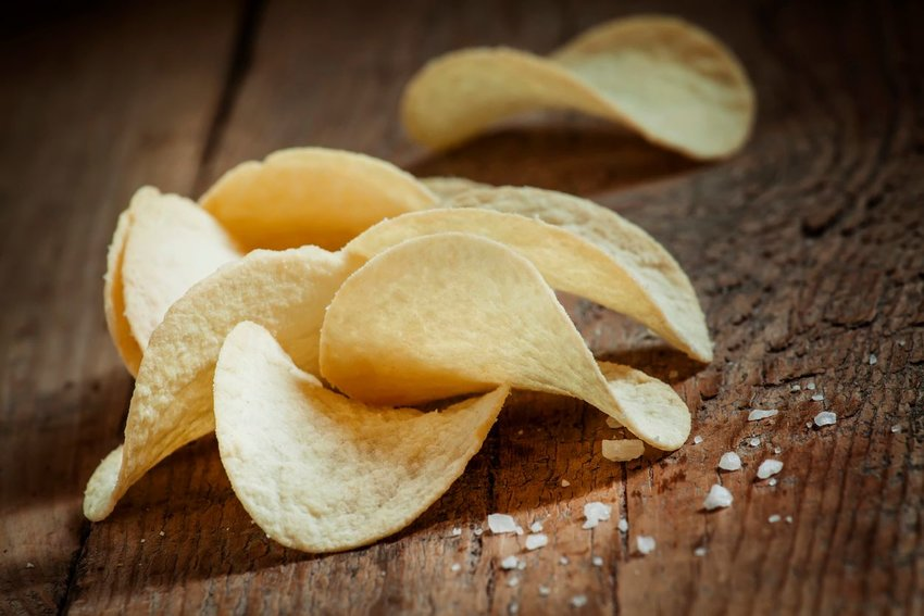 Close up photo of potato chips