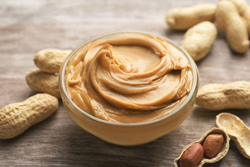 Photo of a bowl of peanut butter