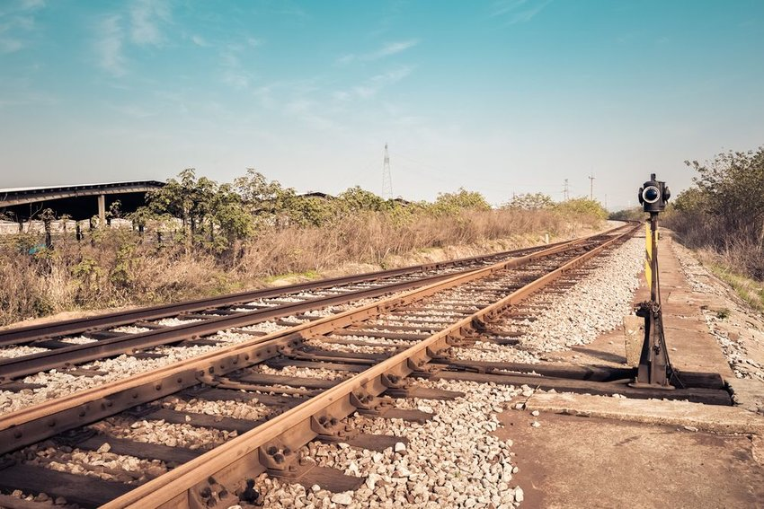 Photo of old train tracks