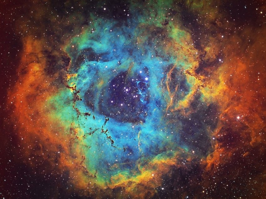 Image of a bright starry part of outer space