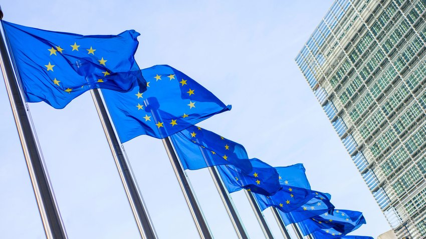 Photo of European Union flags