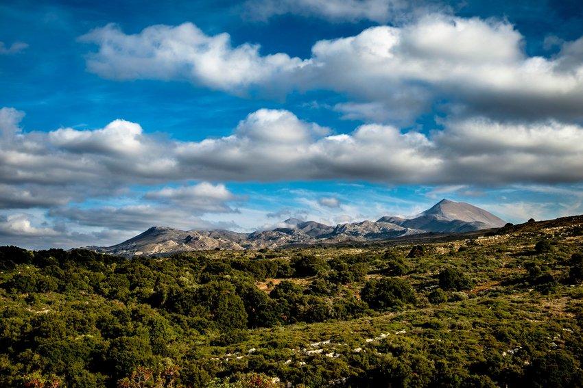 Photo of a mountainous landscape