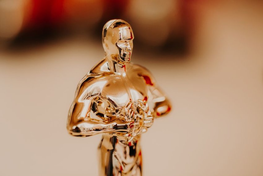 Close-up photo of an Oscar statue