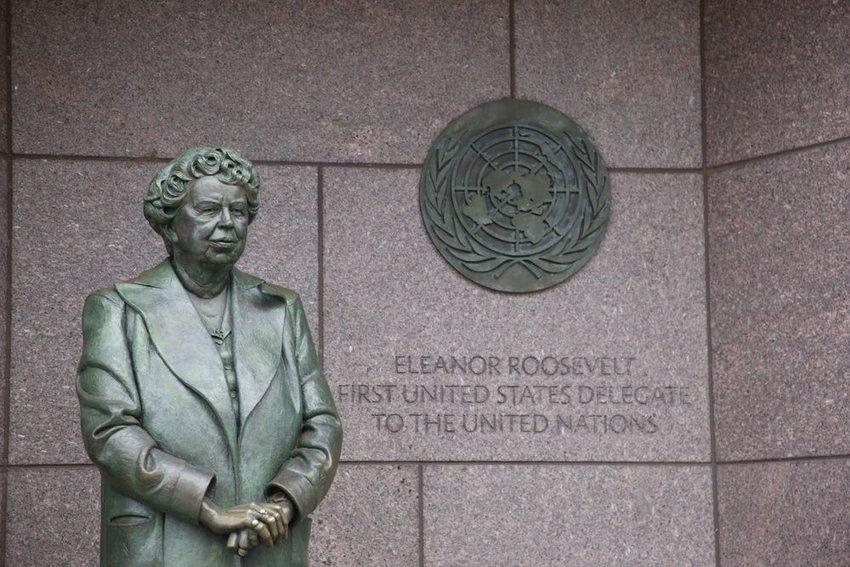 Statue of Eleanor Roosevelt at the Franklin Delano Roosevelt Memorial