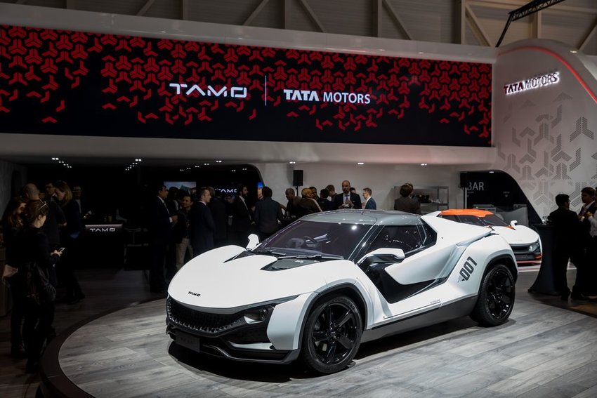 Tata Tamo Racemo car on display at the Geneva motor show in Geneva, Switzerland
