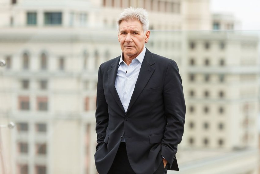 Harrison Ford attending film premier at the Ritz Carlton Hotel, Moscow, Russia