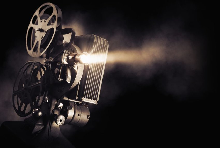 Photo of a film projector