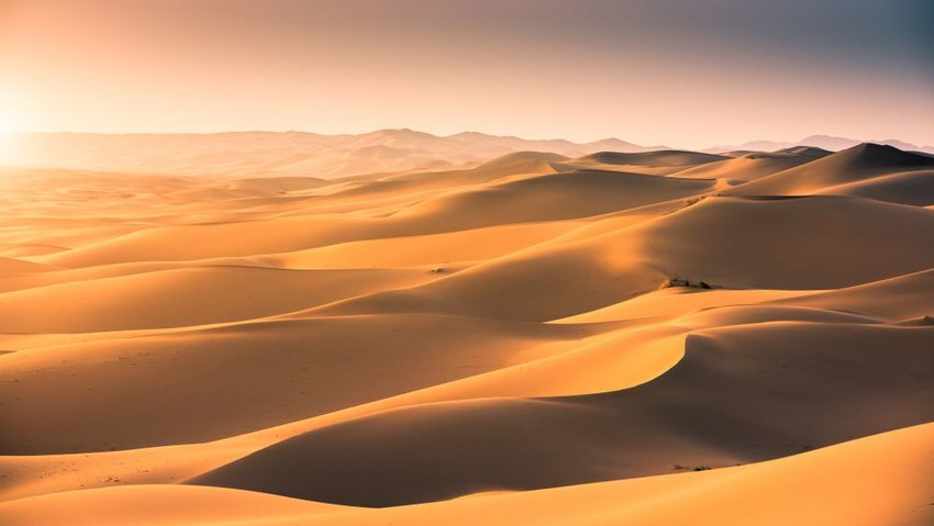 Photo of sand dunes in a desert