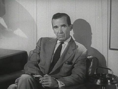 Black and white photo of Edward R. Murrow