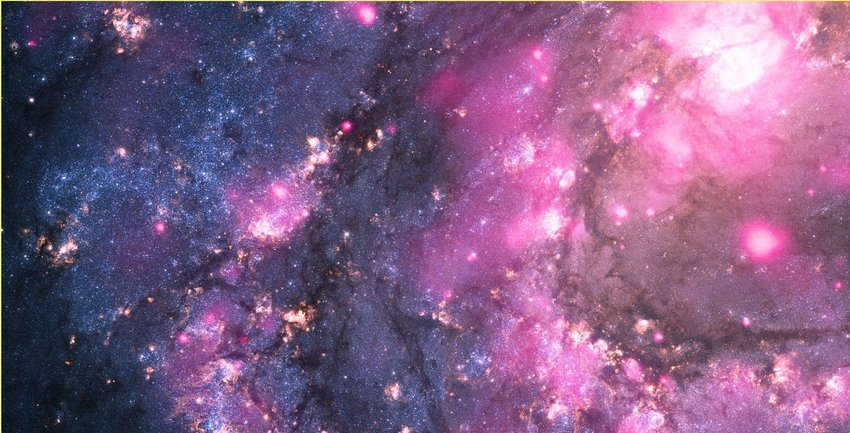 Space view of large purple outburst of black hole, seen by NASA's Chandra X-ray Observatory