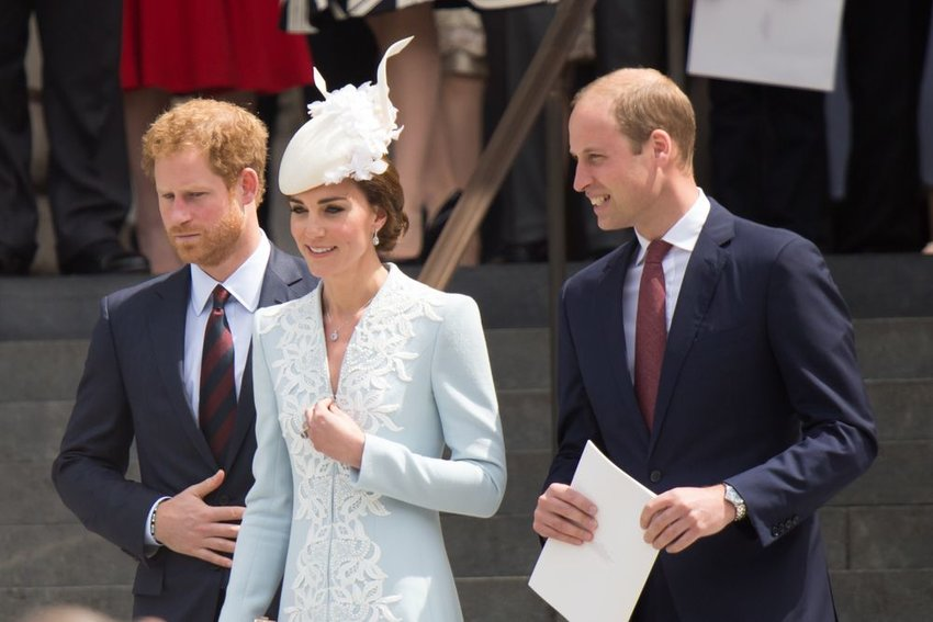 Princes Harry, William, and Princess Kate in London, United Kingdom