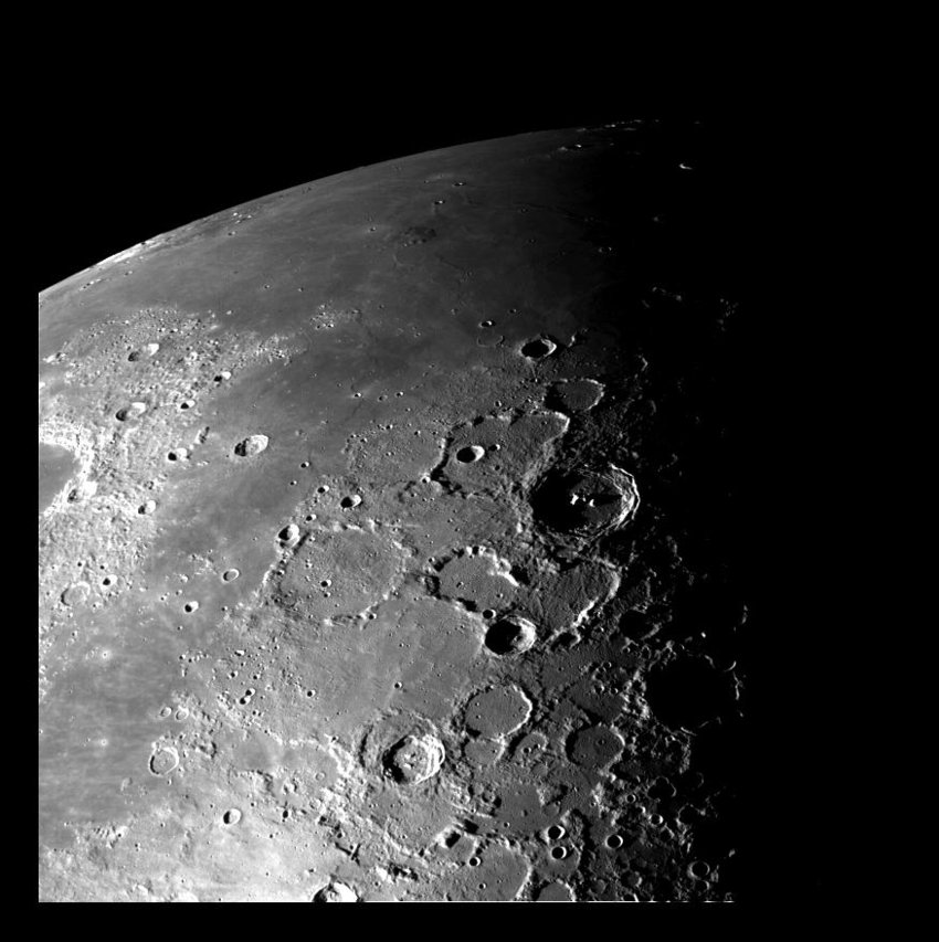 View of the north polar region of the Moon seen by NASA's Galileo Spacecraft