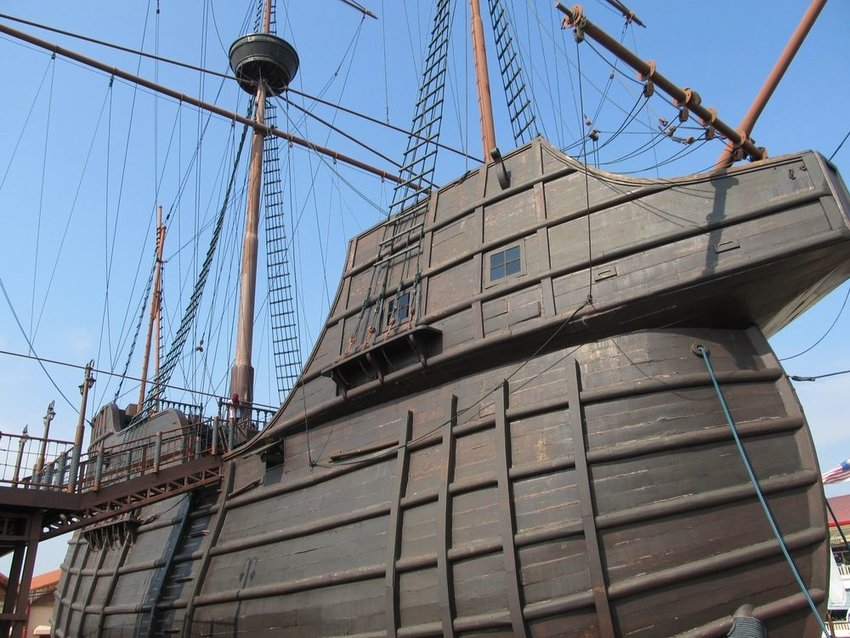 Replica of the famous Portuguese vessel Nau seen at the Maritime Museum in Malaysia