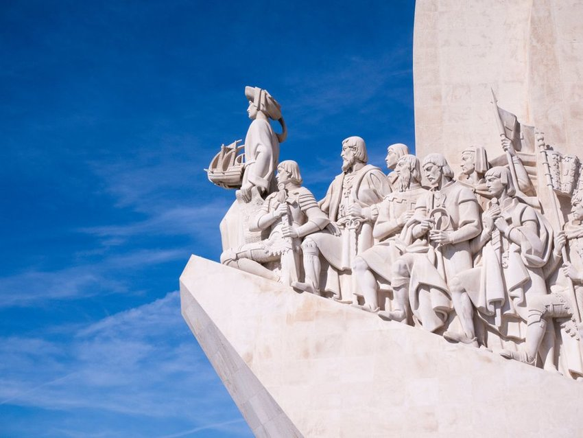 Stone monument to discoveries and Portuguese explorers in Belem, Lisbon, Portugal