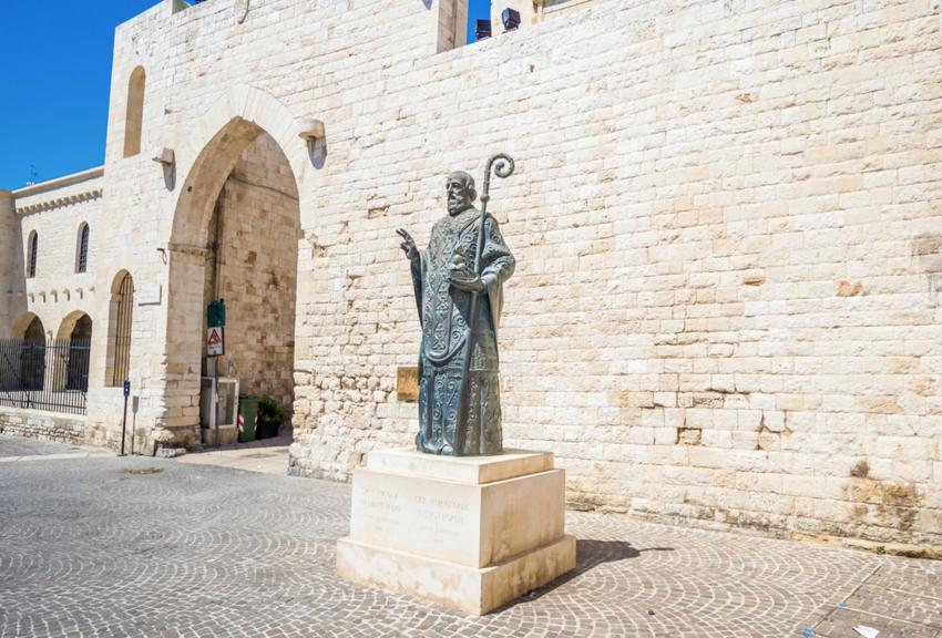 Saint Nicholas statue, near famous Christian Basilica of Saint Nicholas