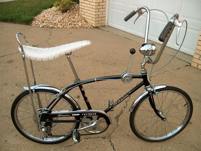 Banana seat on bike