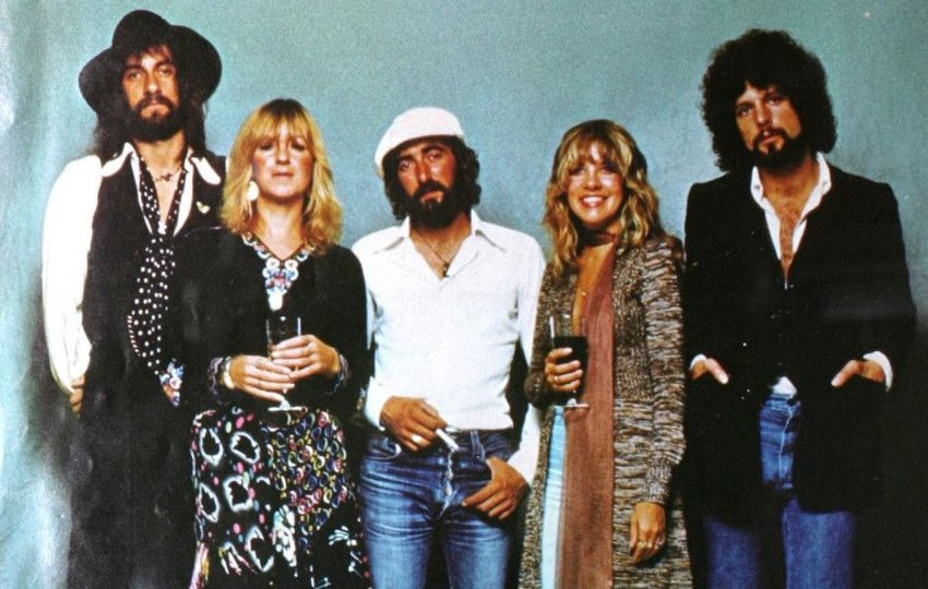 Fleetwood Mac band members standing together