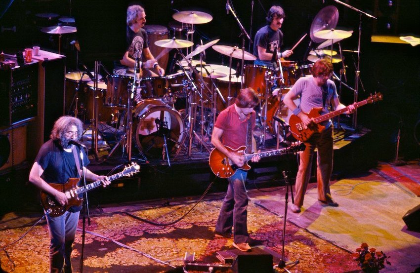 Grateful Dead band performing on stage