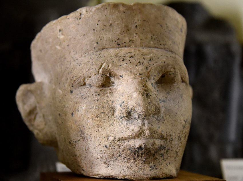 Limestone head of Narmer