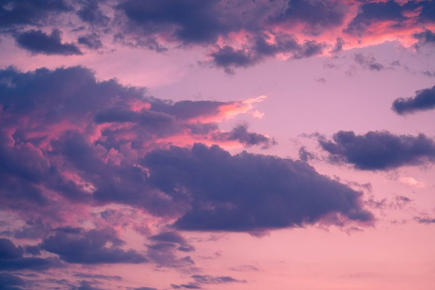 Pink/purple clouds at sunset