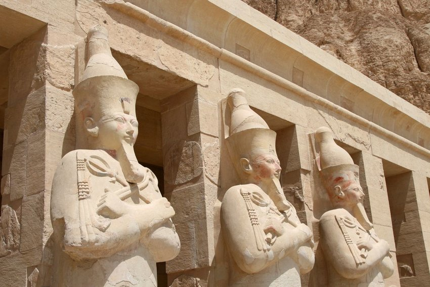 Statues outside of the Valley of the Kings