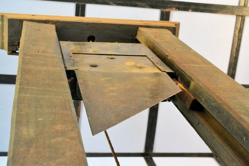 An old wooden guillotine