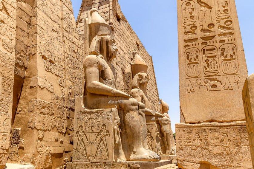 Rameses II statue in Luxor temple