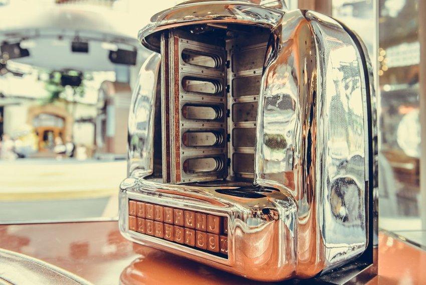 Old jukebox at a diner