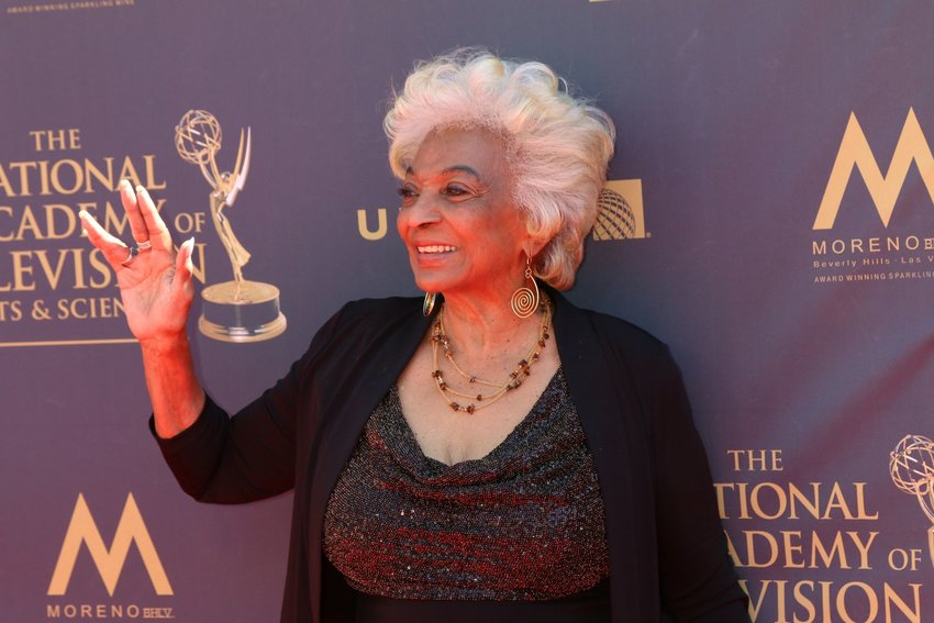 Actress Nichelle Nichols on the red carpet