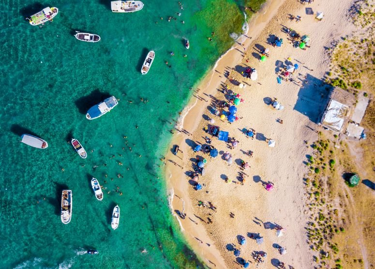 Aerial view of beach in Lebanon