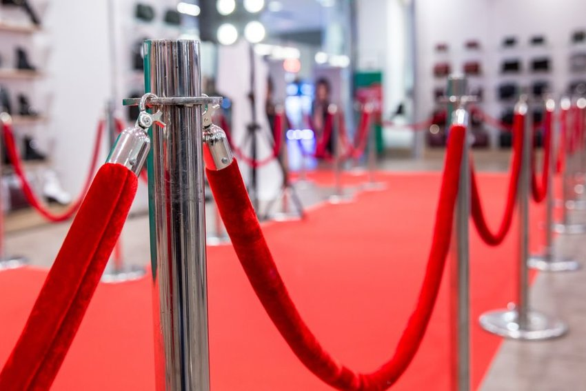 Red carpet and rope