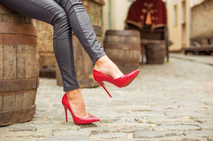 Pair of red heels