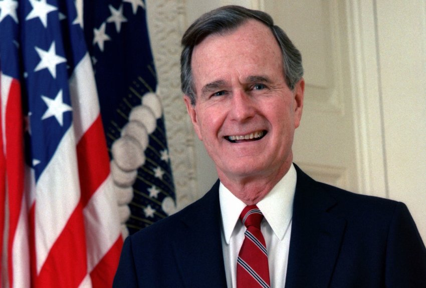 Official portrait of President George H. W. Bush
