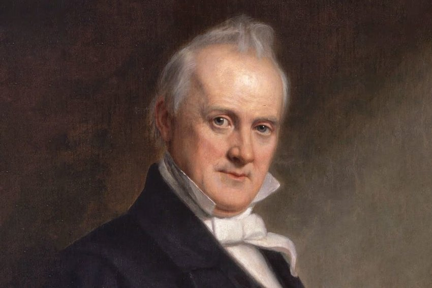Close up of a portrait of James Buchanan