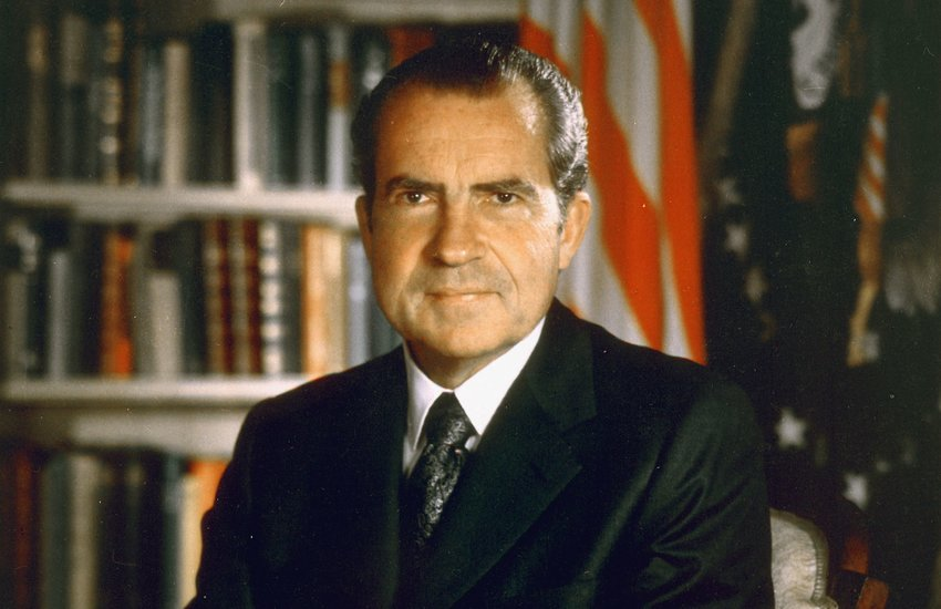 36th President of the United States of America, Richard M. Nixon, in his Office