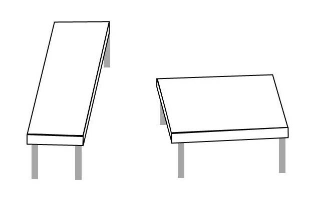 Drawing of two tables